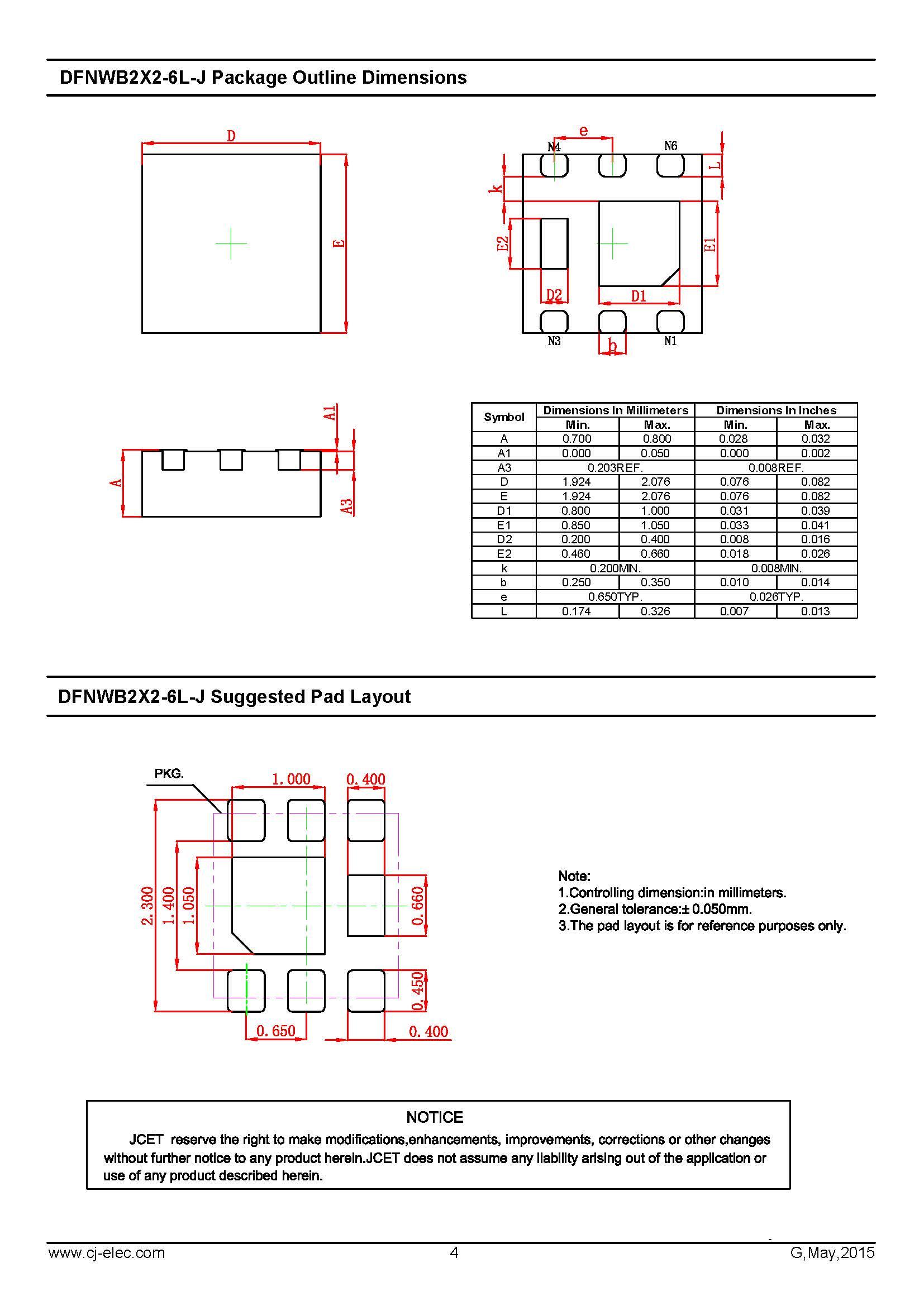 东莞市讯微电子有限公司 产品信息 > cjm1216 p-ch mos管 dfnwb2×2-6